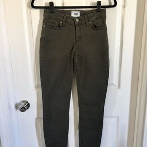 Paige Army Green Jean Verdugo Ankle Size 26